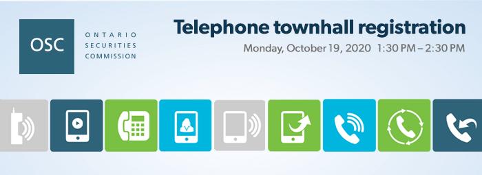 Telephone townhall registration