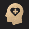 Icon of Head with Heart and Health Cross