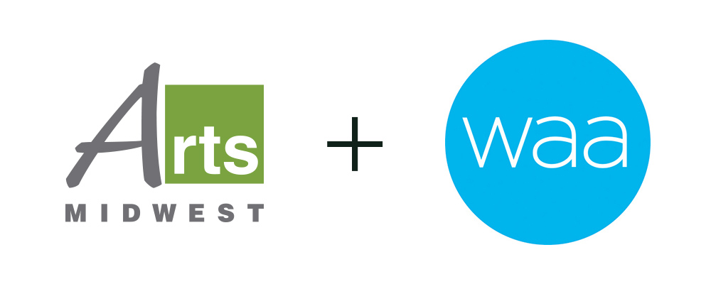 Arts Midwest and WAA Logos