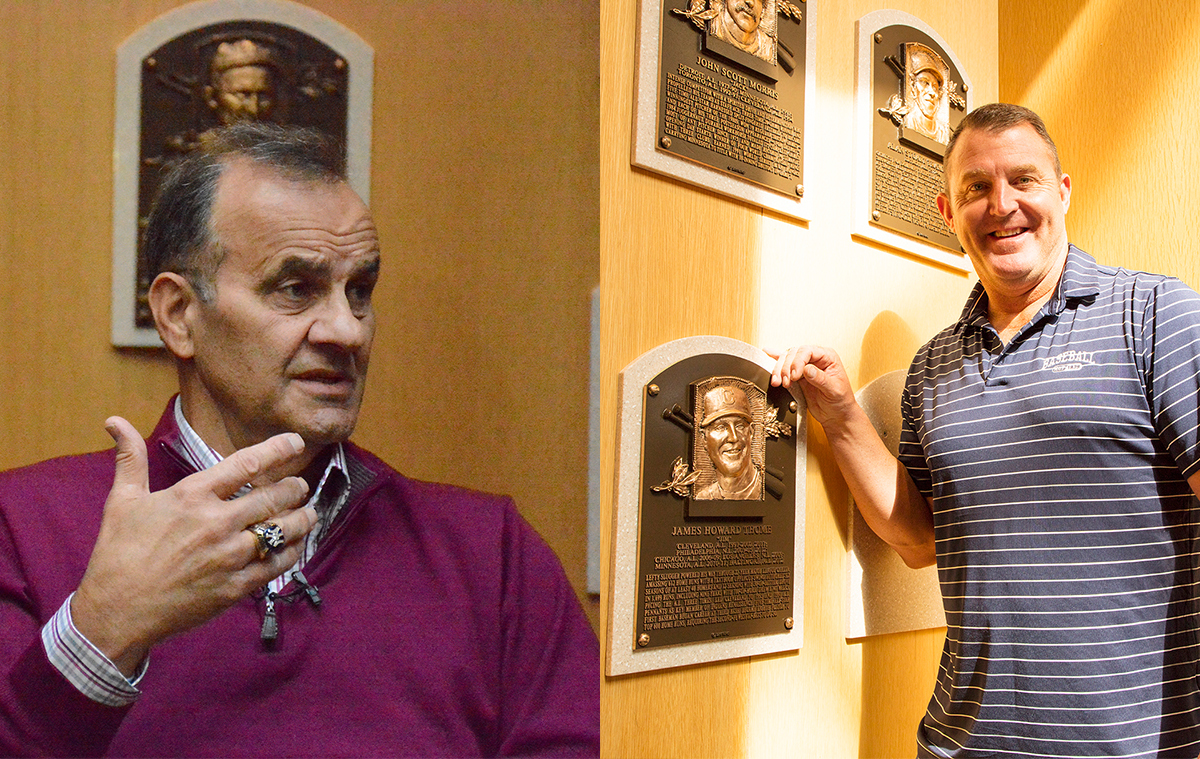 Hall of Famers Joe Torre and Jim Thome