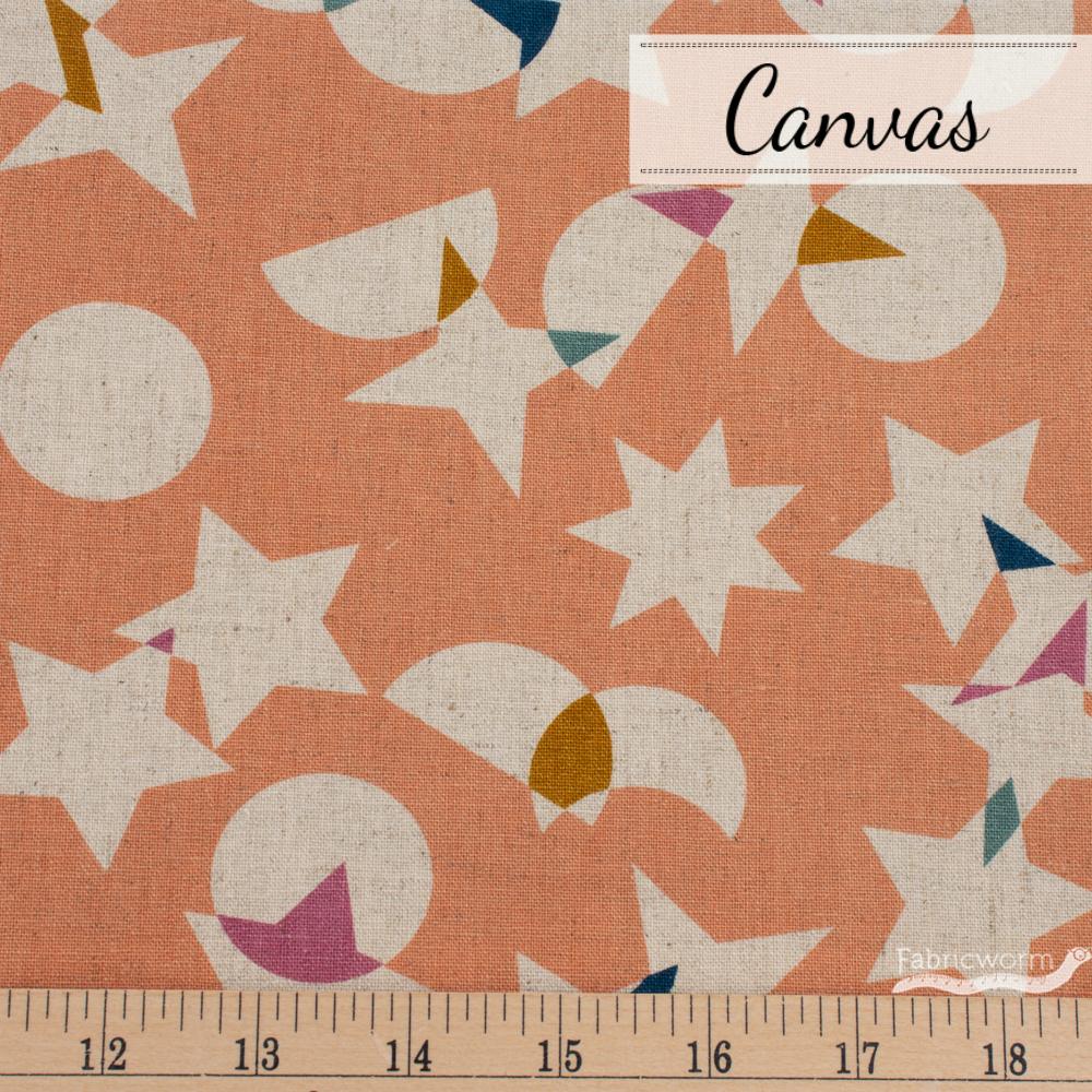 rashida-colman-hale-stellar-canvas-space-junk-peach-fabricworm