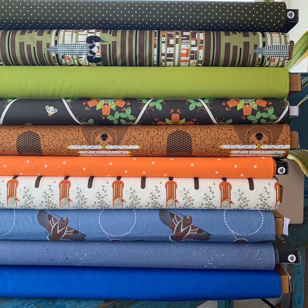 fabricworm-fabric-bundle-woodland-wandering-charley-harper