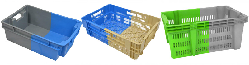 bi-colour stack nest boxes
