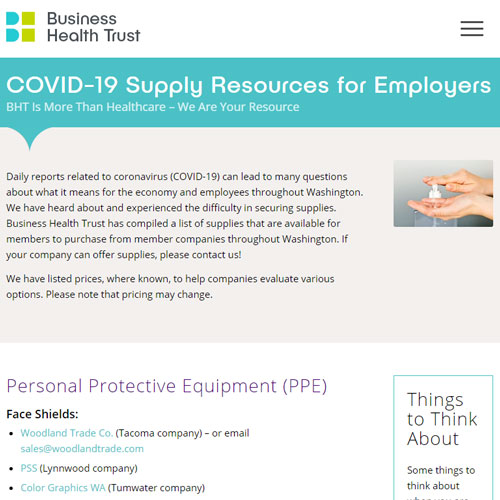 COVID-19 Supply Resources for Employers