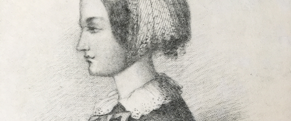 Image: 'Portrait of Florence Nightingale', stipple engraving by Conrad Cook © Derby Museums