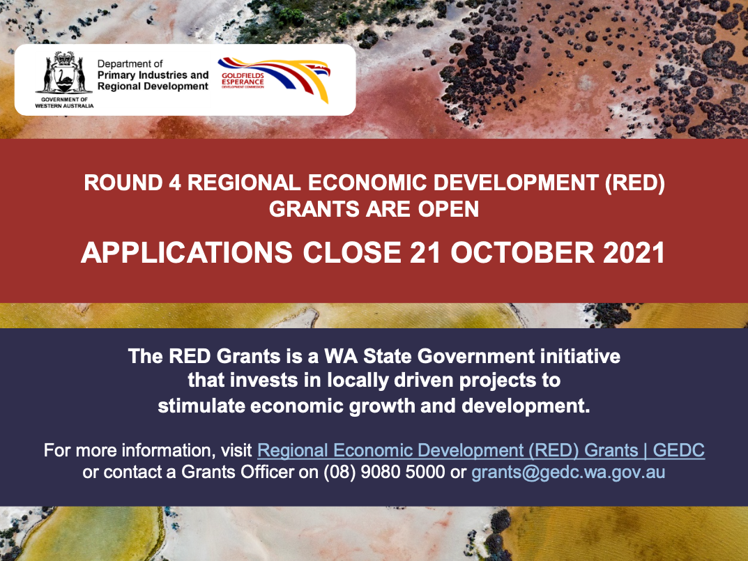 Round 4 RED Grants - open now.
