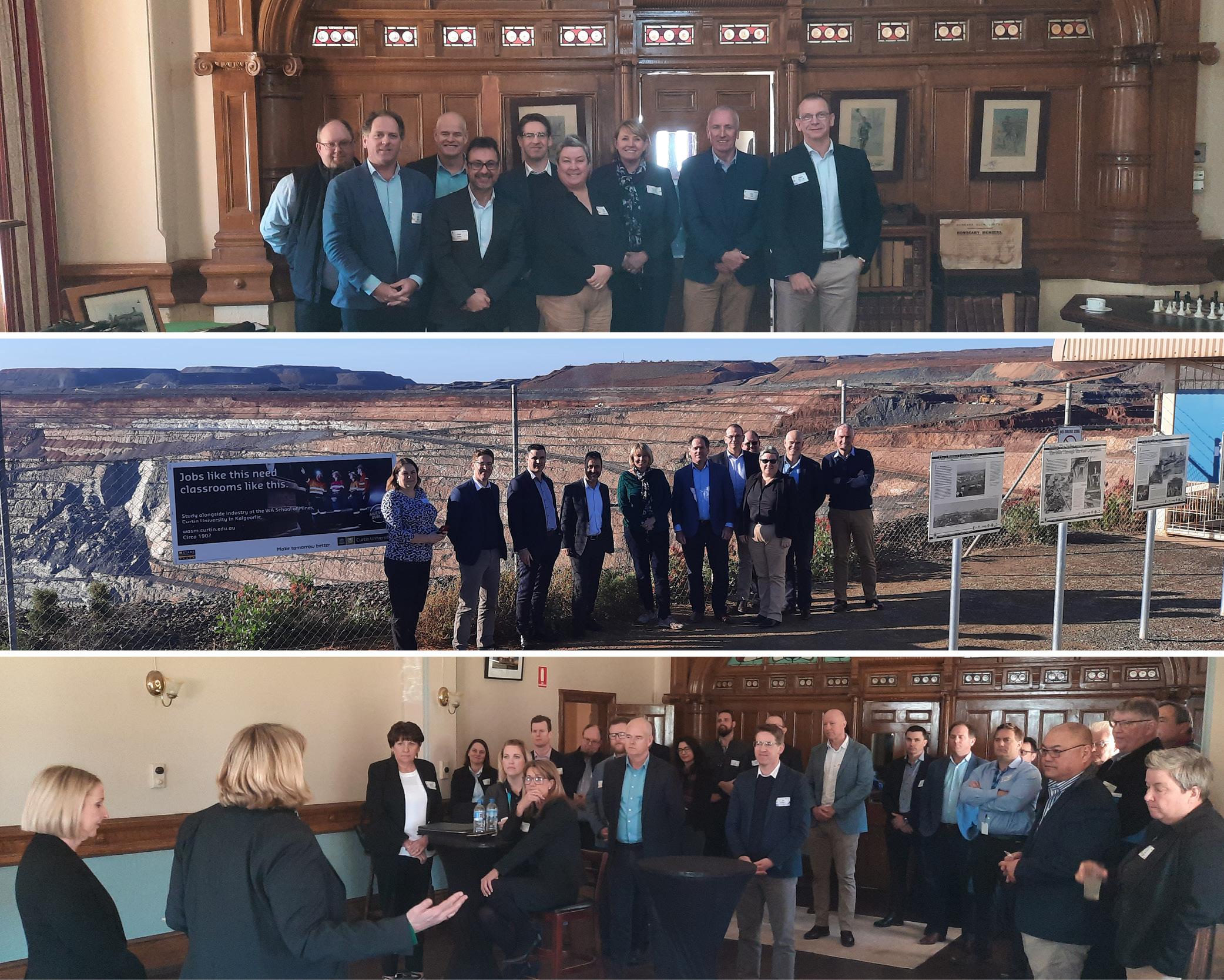 Director Generals from the ILSC visit major projects whilst in Kalgoorlie-Boulder.