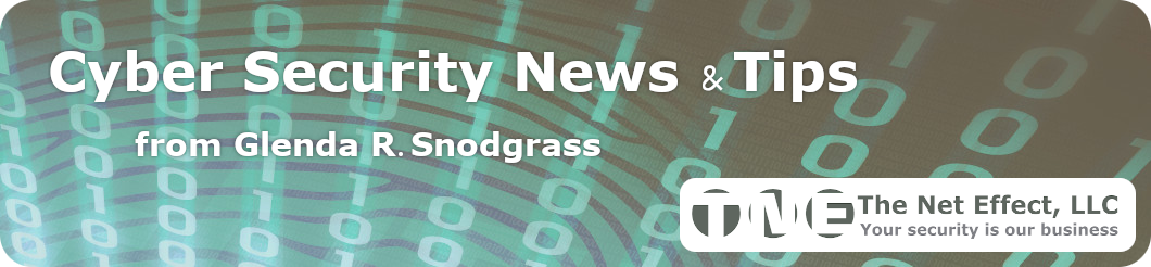 Cyber Security News & Tips for SMBs by Glenda R. Snodgrass for The Net Effect