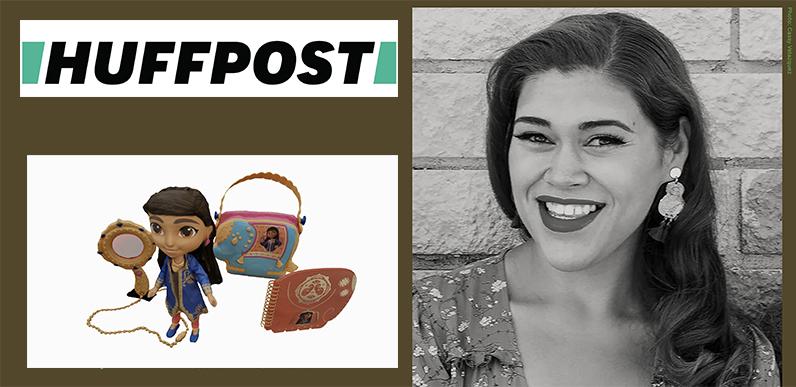 HuffPost logo, Rocio Cintron photo and her toys