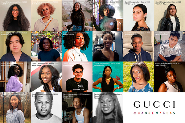 collage of the Gucci Changemakers Scholarship winners