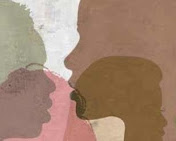 silhouettes of different colored faces