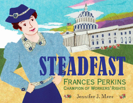 illustration of workers rights activist Frances Perkins