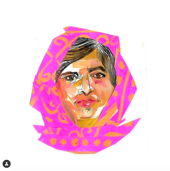 illustration of Malala Yousafzai by Acting Associate Dean Melanie Reim