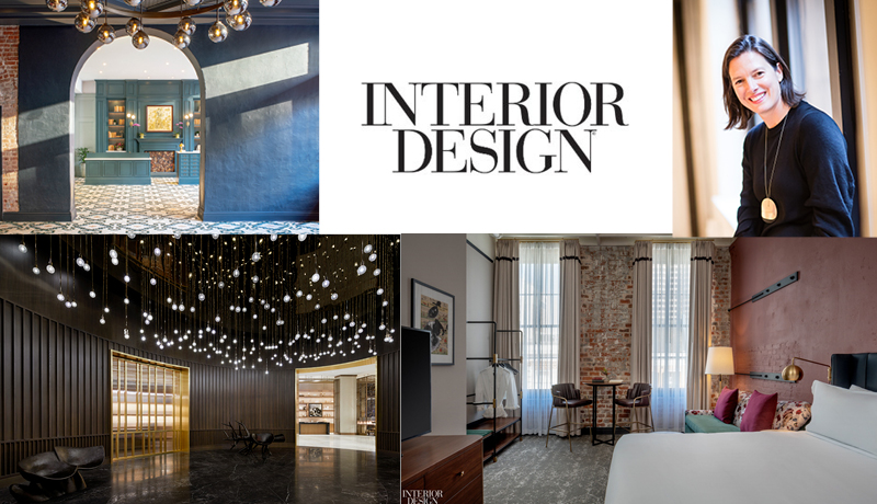 Sara Duffy and images of interiors she's designed from Interior Design magazine