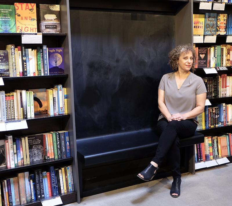 Cindy Dach in her bookstore