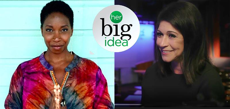 photos of Malene Barnett and Caroline Hirsh with Her Big Idea logo