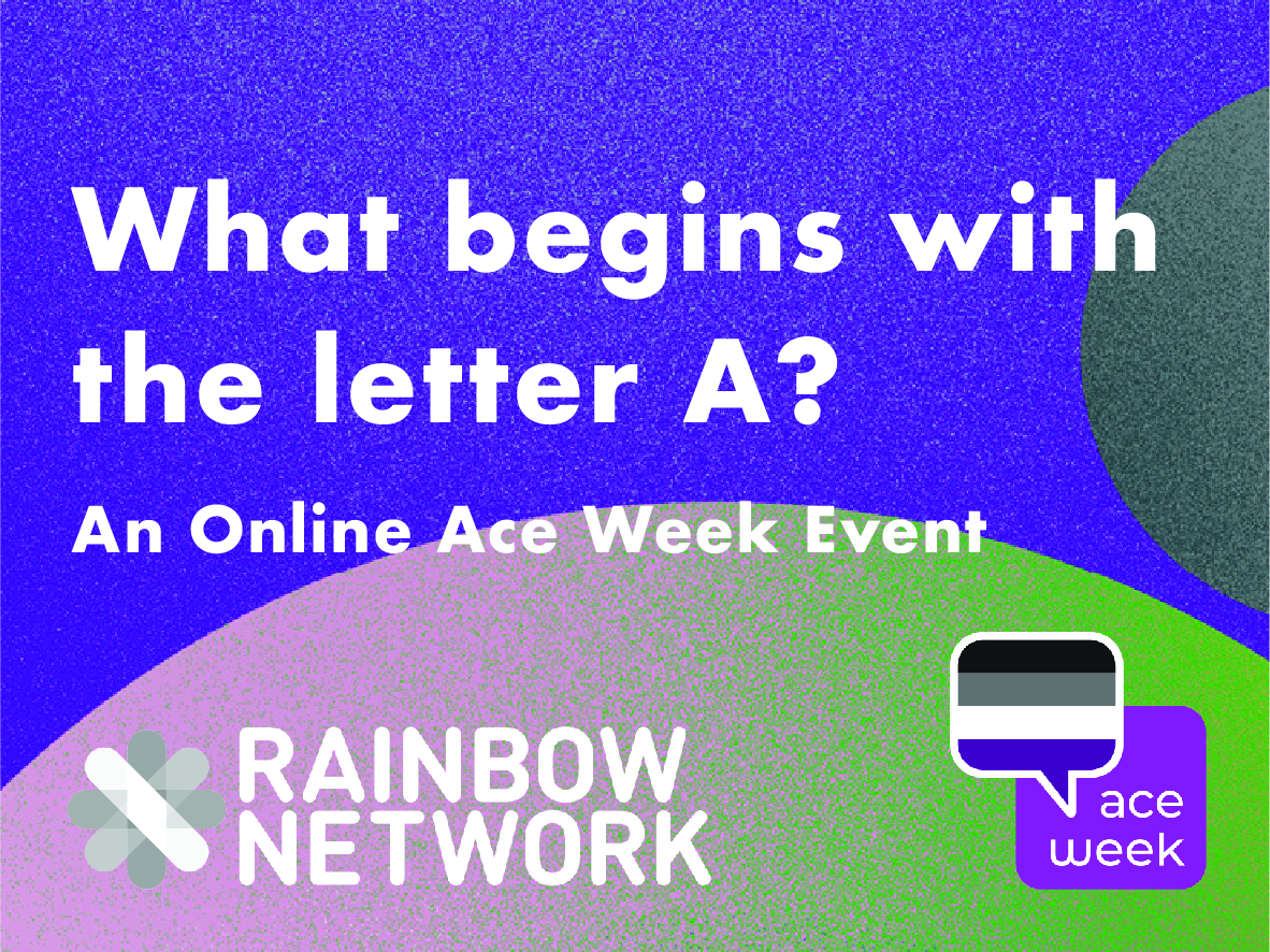 Graphic desighn showing ace week logo and rainbow network logo