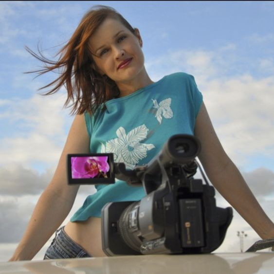 Photograph showing film maker Phoebe Hart