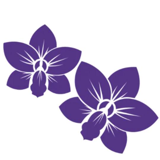purple orchids graphic