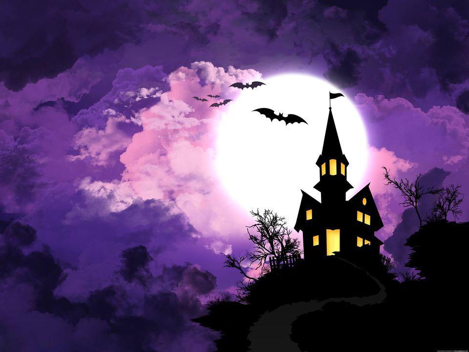 spooky cartoon castle
