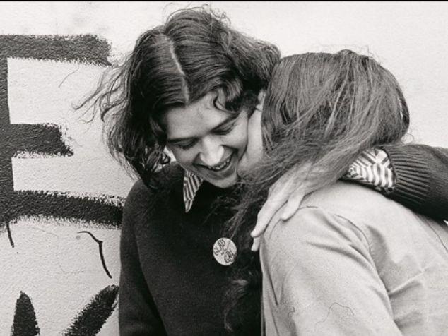 black and white photo of lesbians