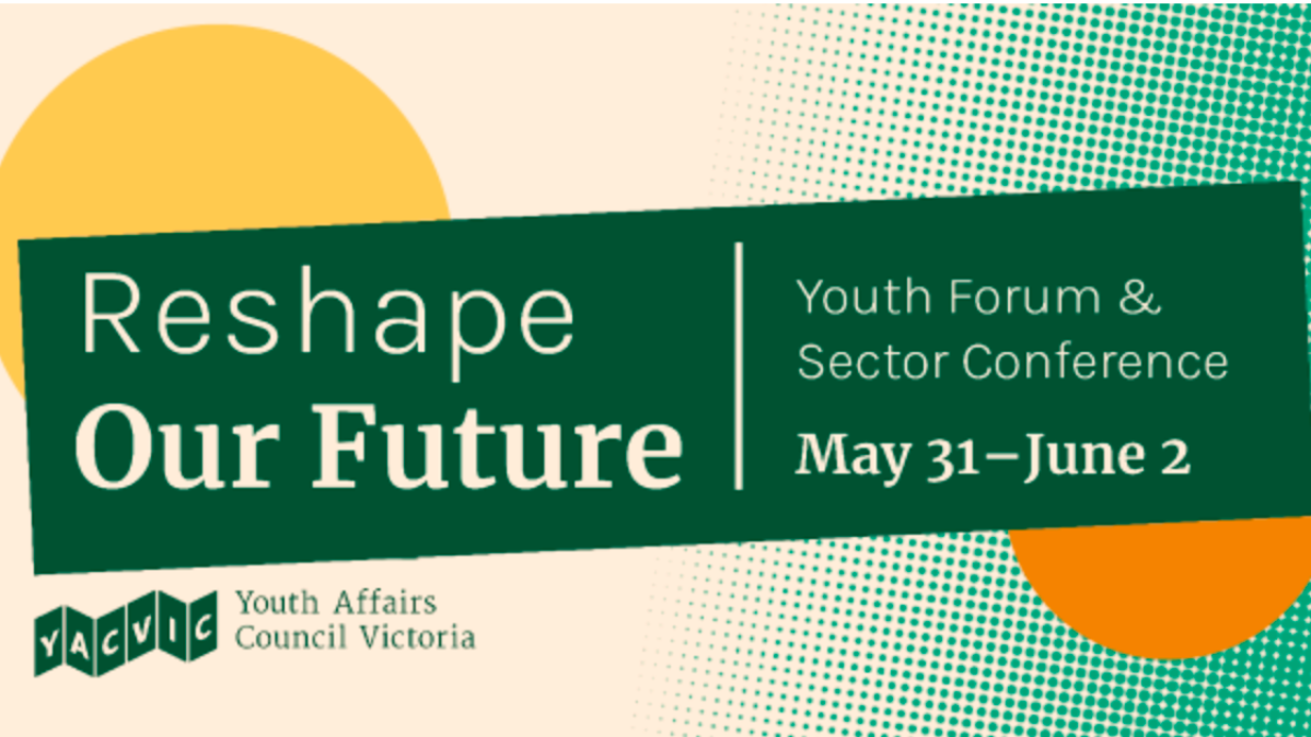 Conference Banner with title Reshape Our Future