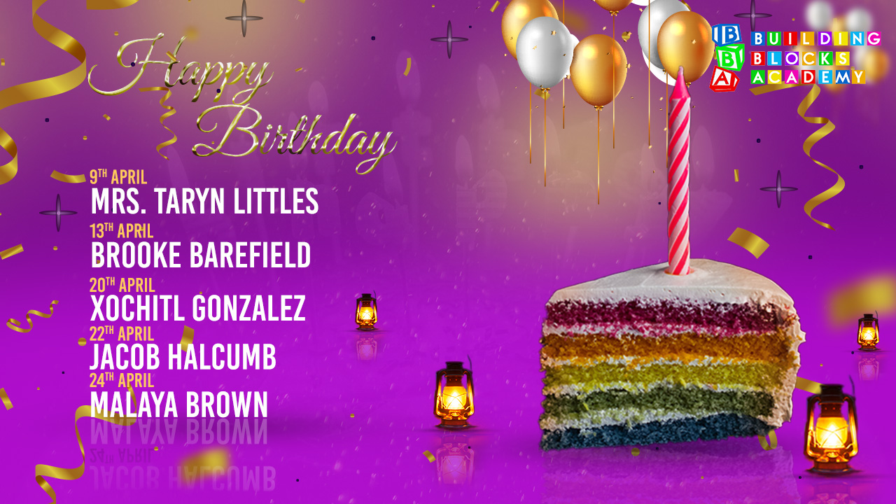 Building Blocks - April - Birthdays
