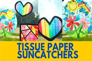 Tissue Paper Suncatchers - Activity
