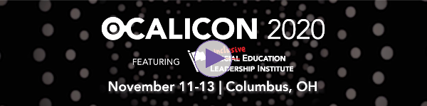 Banner image of OCALICON 2020 logo with video play button
