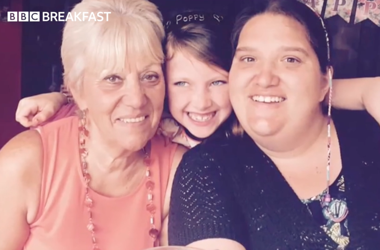 Laura, 31, who has died from coronavirus  with her mum and sister