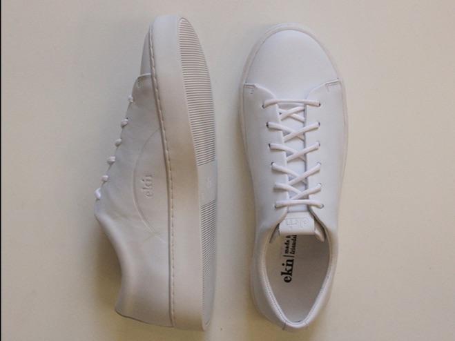 Oak Low WHITE, Sneaker von EKN
