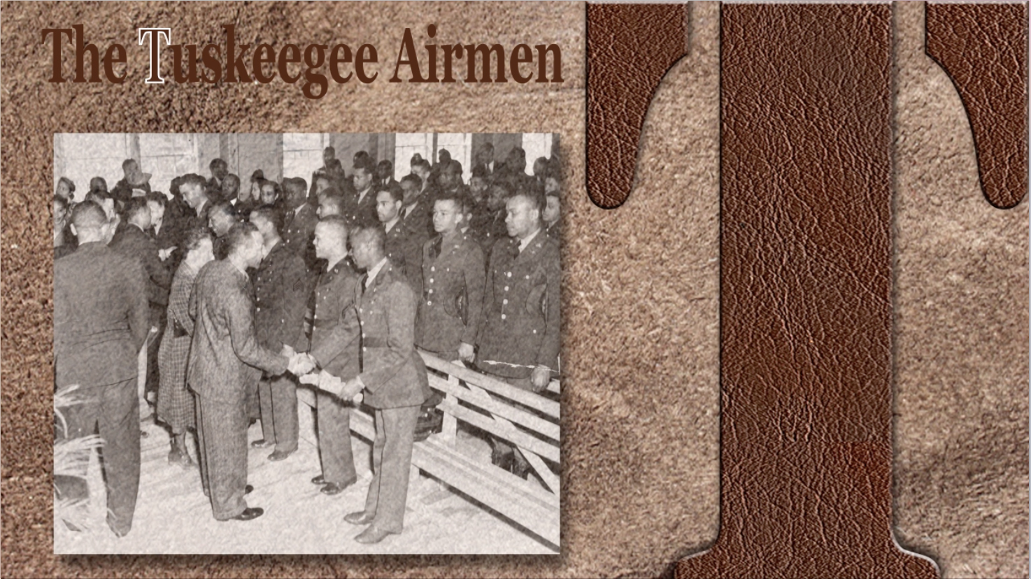 The Tuskegee Airmen were the first African-American military aviators in the United States Armed Forces. During World War II