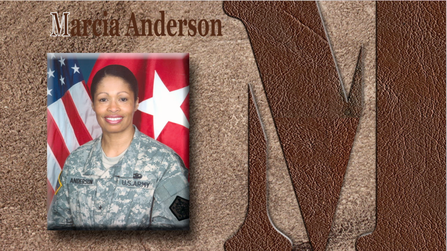 Marcia Carol Martin Anderson (née Mahan, born 1957) was the first African-American woman to become a major general in the United States Army Reserve.