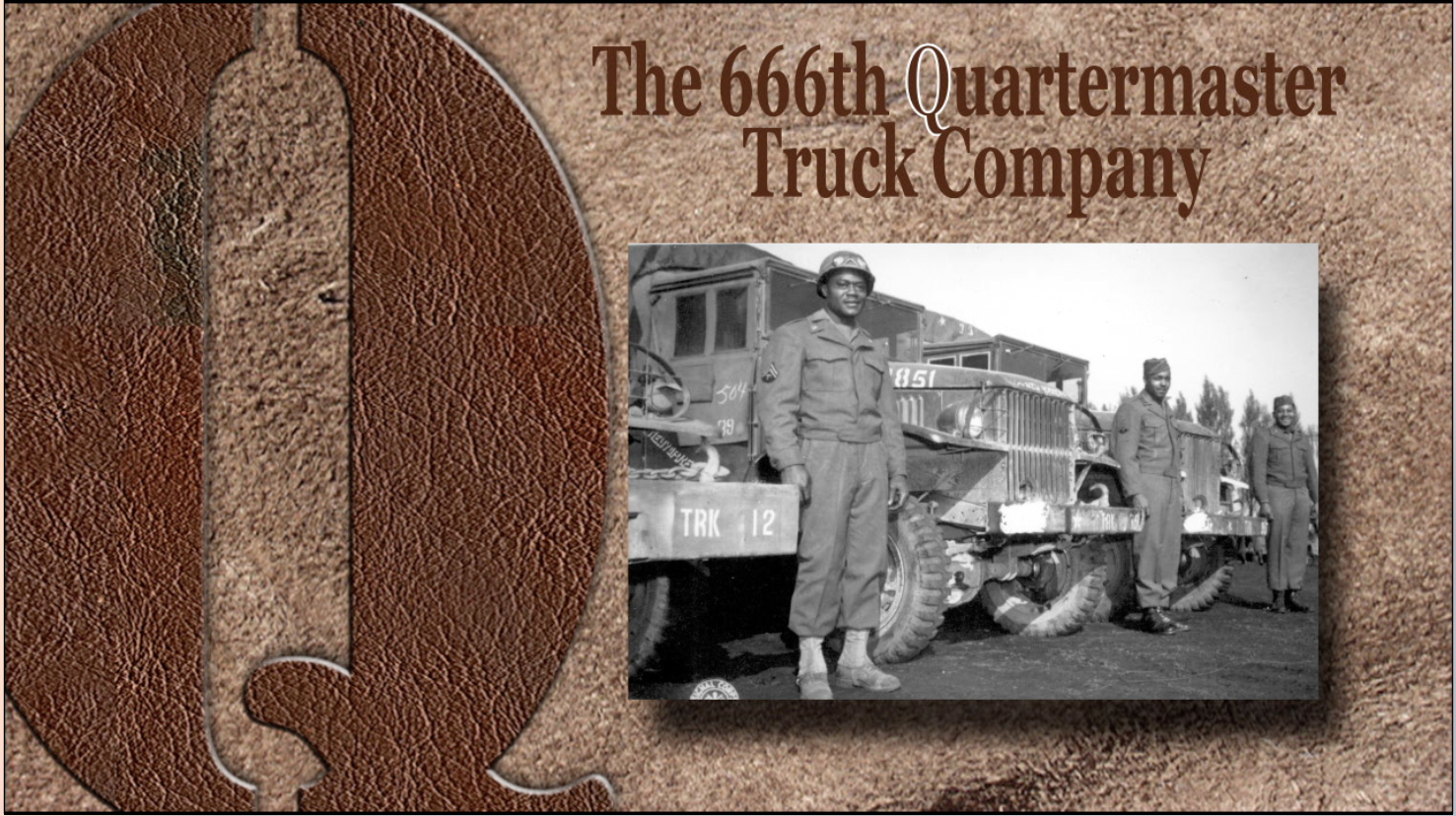 These drivers of the 666th Quartermaster Truck Company, 82nd Airborne Division, who chalked up 20,000 miles each without an accident, since arriving in the European Theater of Operations.""