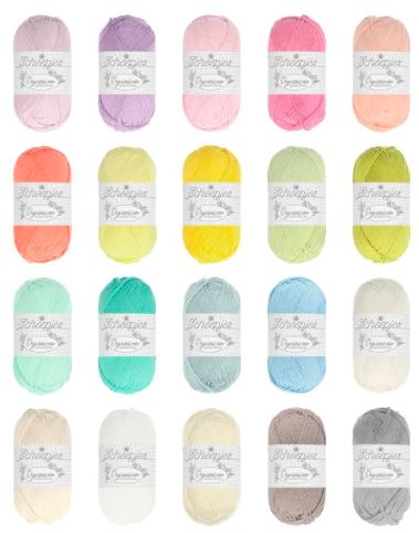 The full colour range of Scheepjes Organicon