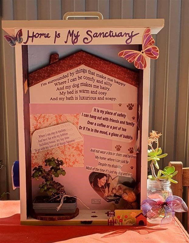 "Melanie's Poem & Artwork: ""Home is My Sanctuary"""