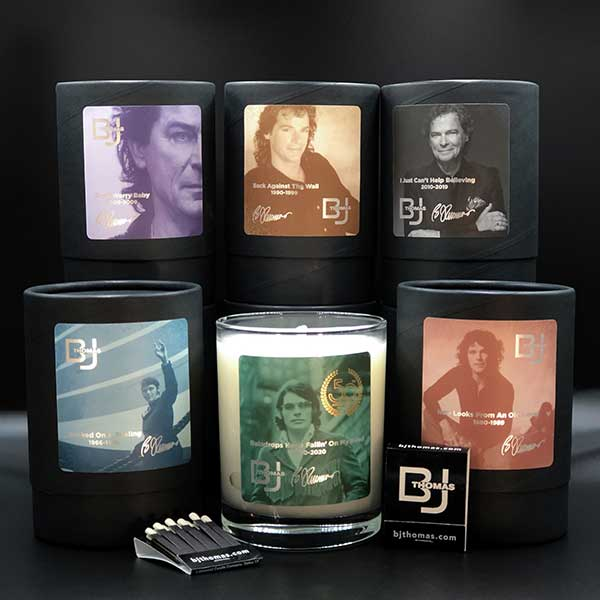 BJ Thomas candle collection
