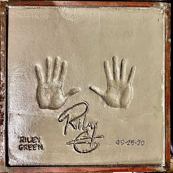 Riley Green hand prints
