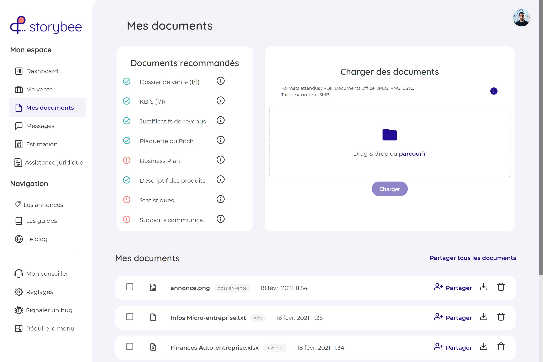 Dataroom - outil de partage sécurisé du dossier de vente