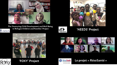 A screenshot from a video montage featuring some of the 'people and places' of the MHP-IF