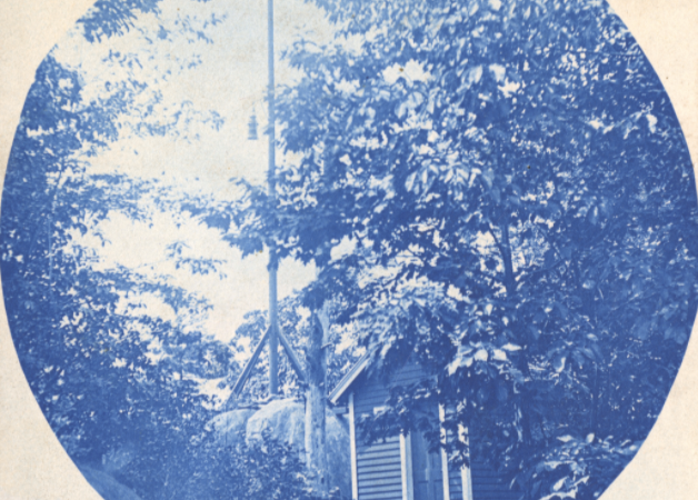 Cyanotype of Esophus Island, New York