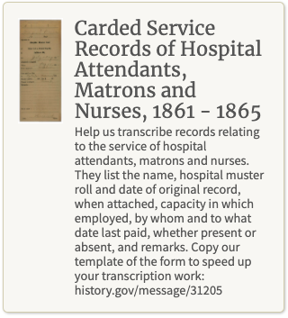 Screenshot of the Carded Service Records transcription mission