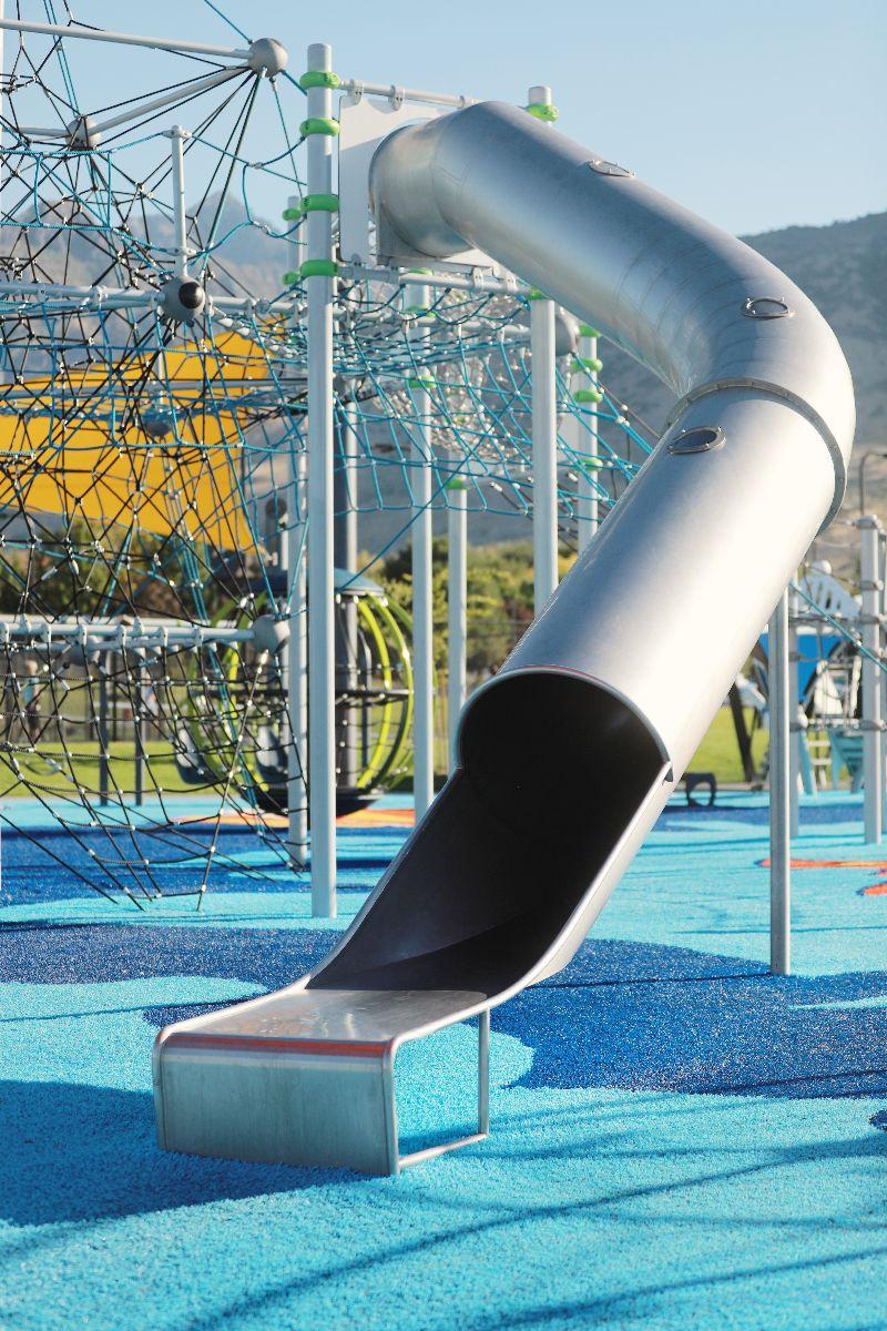Harvey Park, Cedar Hills, UT - steel tube slide