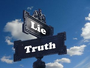 The intersection of lies and truth