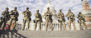 U.S. Soldiers Guarding the U.S. Capitol
