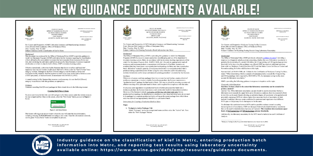 An image previewing three new guidance memos.