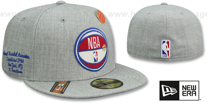 Logoman 2019 NBA DRAFT Heather Grey Fitted Hat by New Era