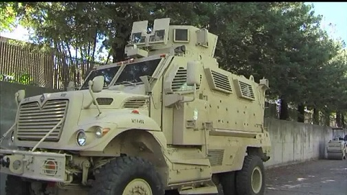A Mine-Resistant Ambush Protected vehicle, or MRAP, is a bullet and bomb proof vehicle designed for a war zone
