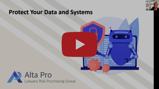 Protect Your Data & Systems, Hit enter to play YouTube Video, Alta Pro Logo
