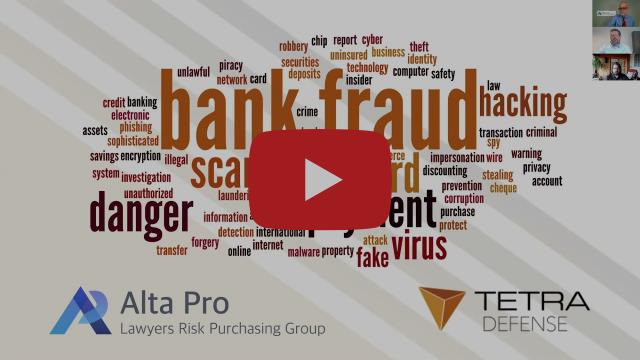 Previous Videos Bank Fraud Alta Pro Logo Tegra Defense Logo